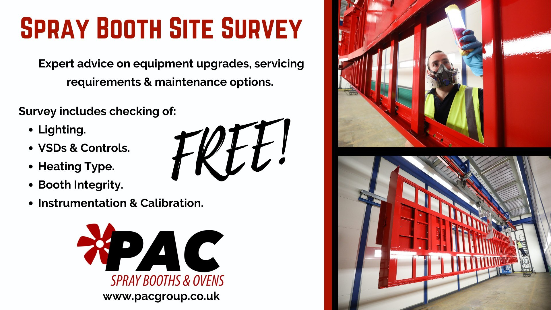Spray Booth Site Survey Details